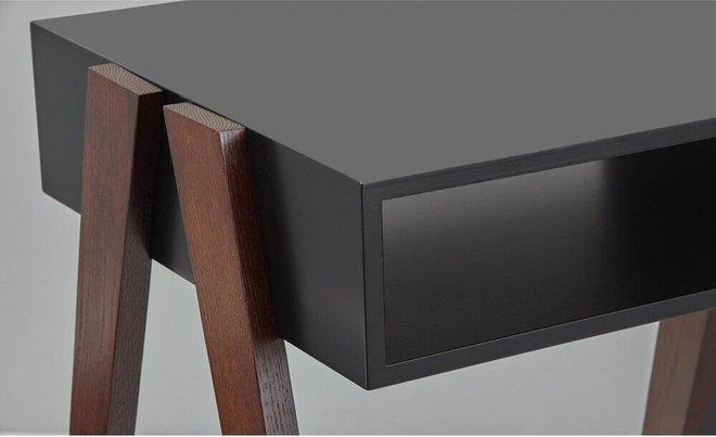 Laurel Coffee Table Black & Walnut