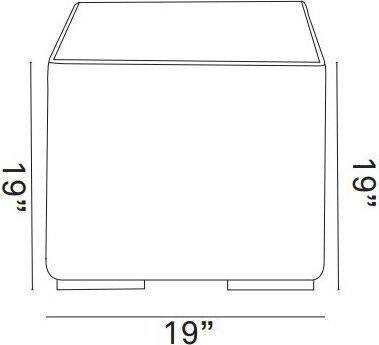 Summon Outdoor Patio Side Table Gray
