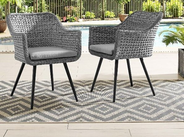 Endeavor Dining Chair Gray (Set of 2)