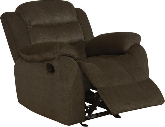 Glider Recliner Two Tone Chocolate