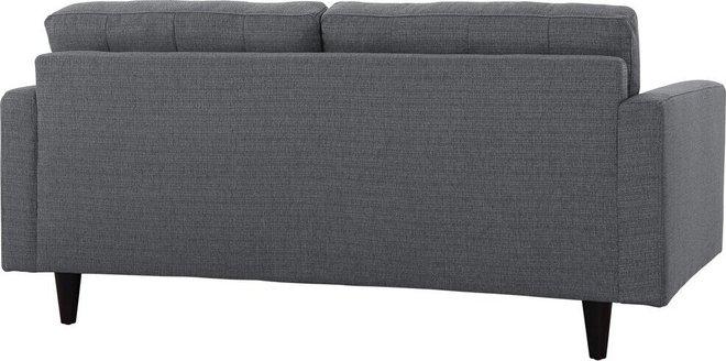 Empress Upholstered Fabric Loveseat Gray