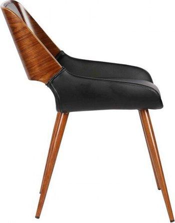 Don Mid-Century Dining Chair Black Walnut