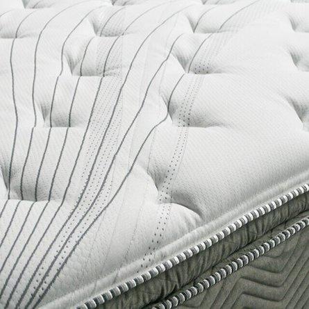 """Stormin 13"""" Euro Pillow Top Eastern King Mattress White & Gray"""