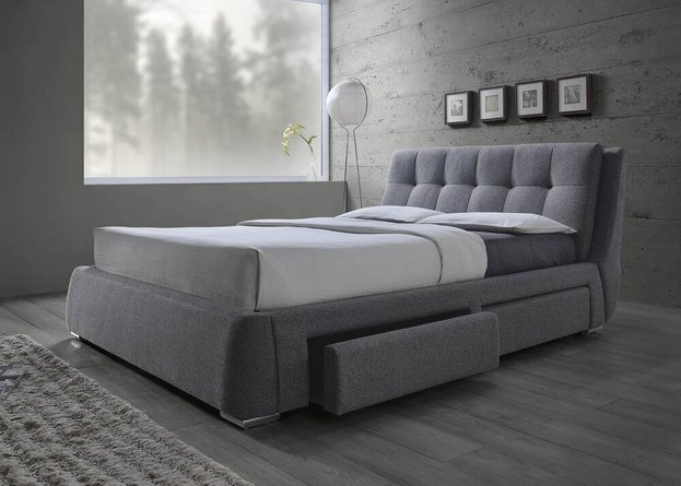 Fenbrook Transitional Eastern King Bed Gray
