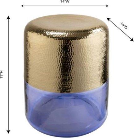 Kolla Side Table Gold & Purple