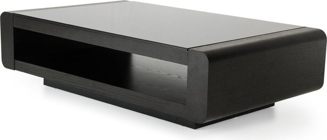 Modrest Lignite Modern Coffee Table Black Oak
