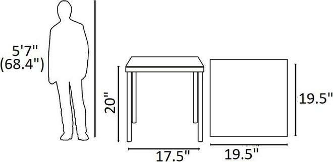 Harmony Outdoor Patio Side Table White