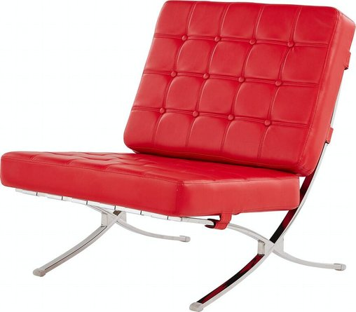 Natalie Leather Chair Red