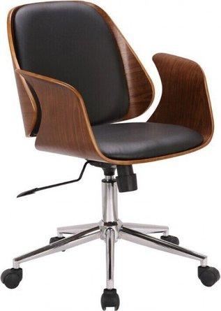 Joyce Mid-Century Office Chair Black Walnut