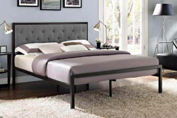 Mia Full Bed Gray
