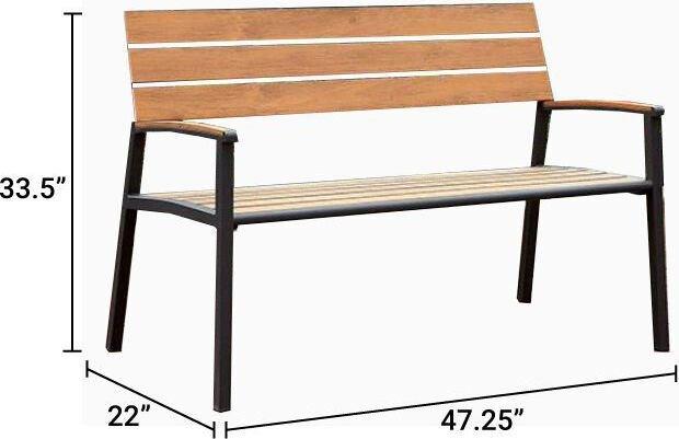 Isha Outdoor Bench Oak
