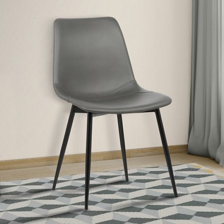 Draco Armless Contemporary Dining Chair Gray