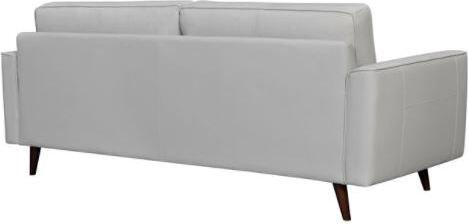 Daeson Leather Sofa Dove Gray