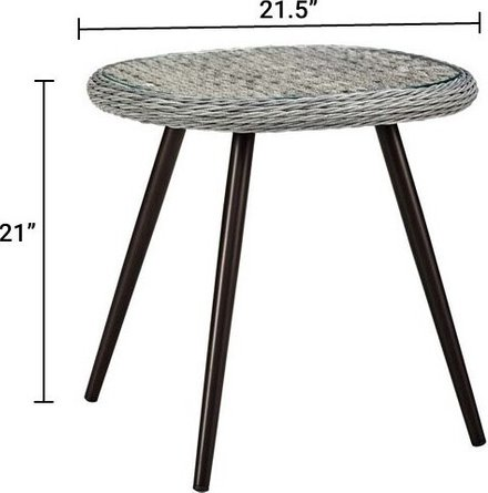 Endeavor Round Side Table Gray
