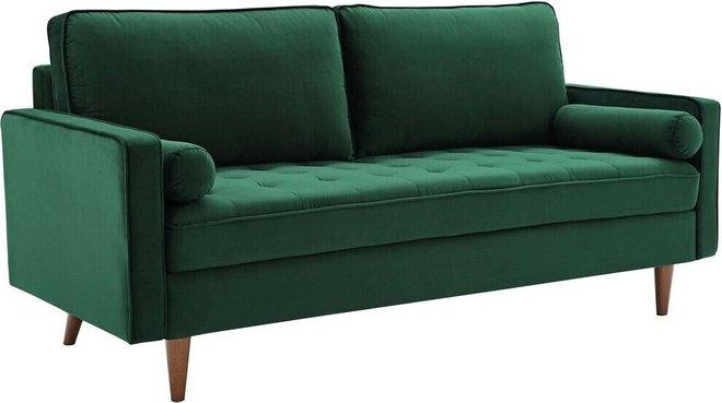 Valour Performance Velvet Sofa Green