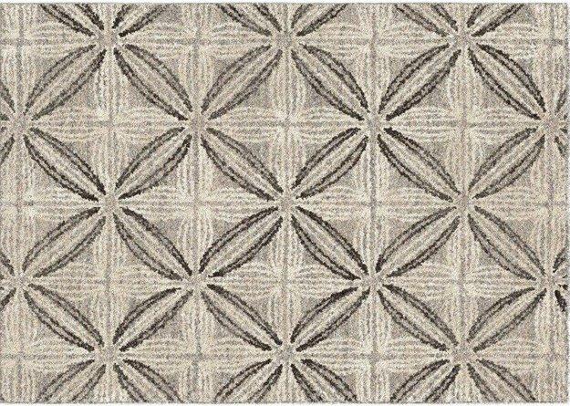 Daisy Contemporary (8'X10') Area Rug In Gray/Cream