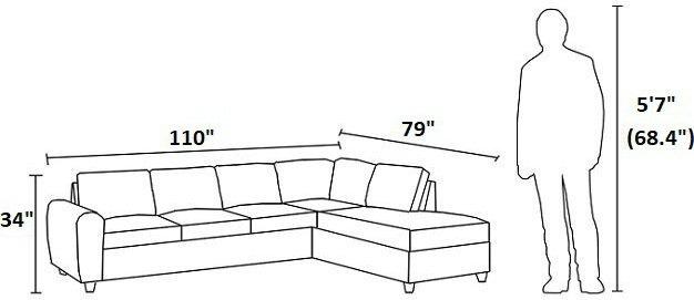 Stonenesse Reversible Sectional Sofa Gray