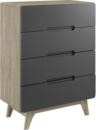Origin Four-Drawer Chest Natural Gray