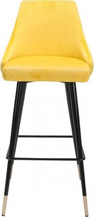Piccolo Bar Chair Yellow Velvet