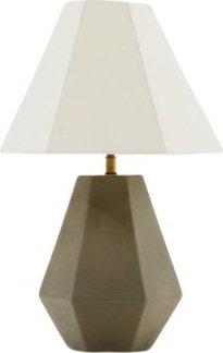 Modrest Estrada Modern Concrete Table Lamp White