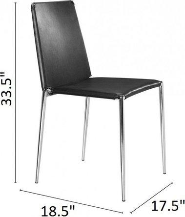 Alex Dining Chair Black (Set of 4)