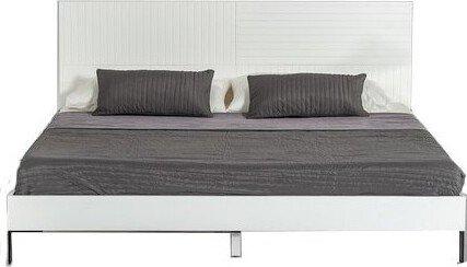 Valencia Contemporary Full Bed White