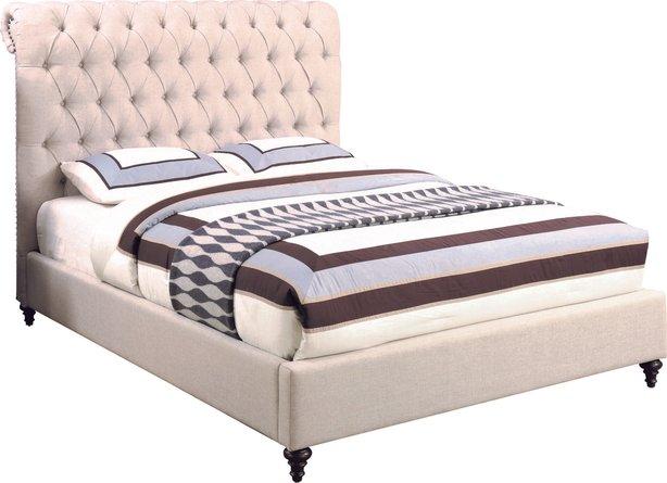 Devon Transitional Eastern King Bed Beige