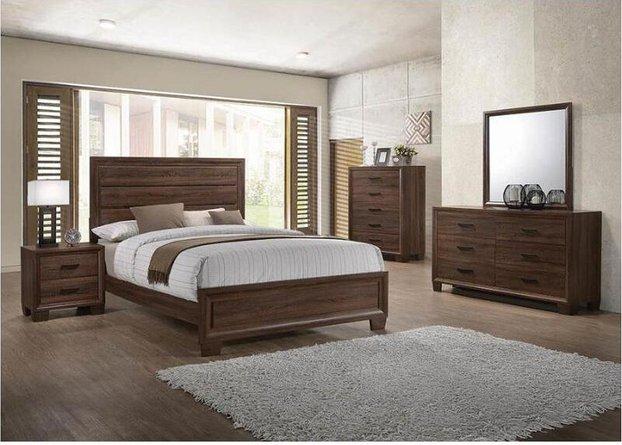 Brandon Queen Bed Warm Brown