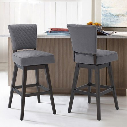 """Tigris 30"""" Counter Height Barstool Gray And Espresso"""