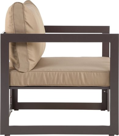 Fortuna Outdoor Patio Chairs Brown & Mocha