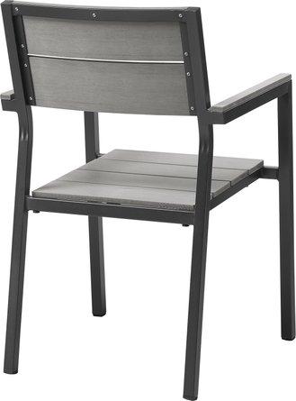 Maine Dining Chair Dark Brown & Gray