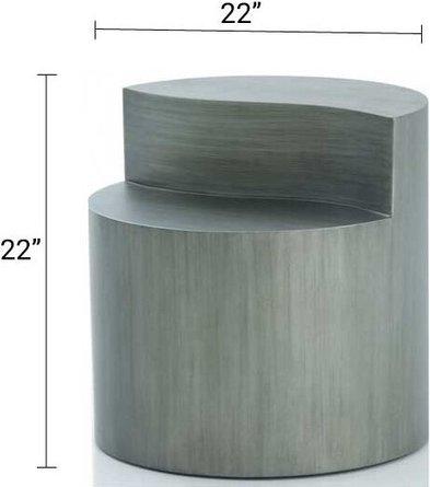 Modrest Avocet End Table Brass Gray