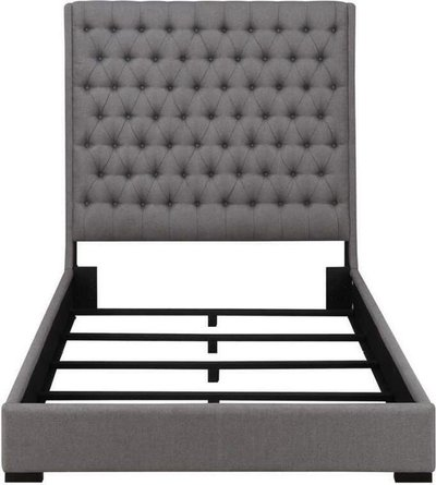 Camille Upholstered King Bed Gray