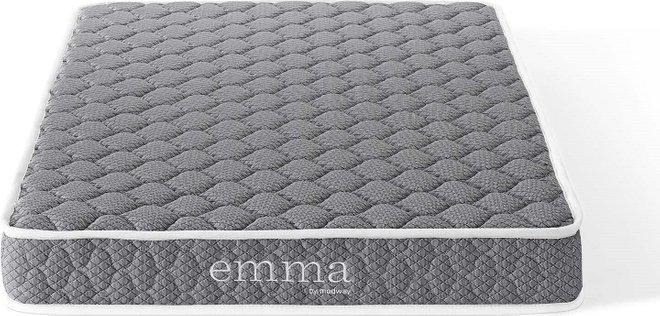 "Emma 6"" Narrow Twin Mattress Gray"