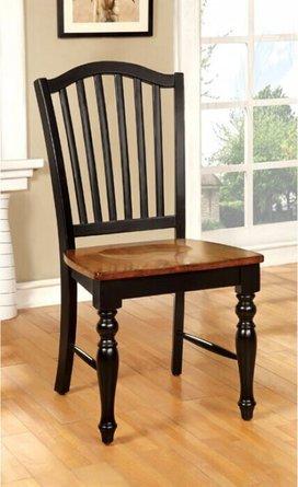 Mayville Side Chair Black & Antique Oak (Set of 2)