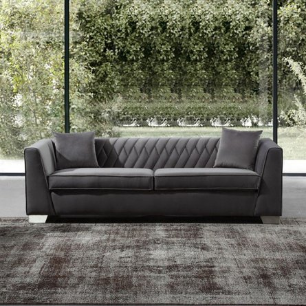 Avon Contemporary Sofa Dark Gray