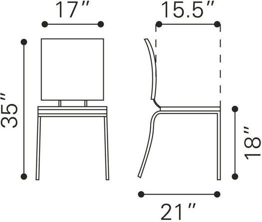 Criss Cross Dining Chair Espresso