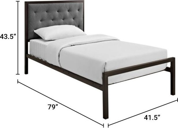 Mia Twin Bed Brown Gray