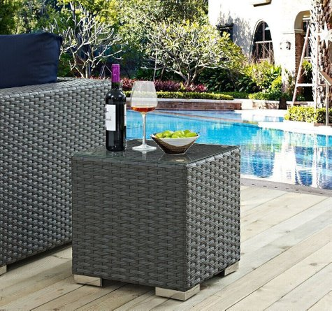 Sojourn Outdoor Patio Side Table Chocolate