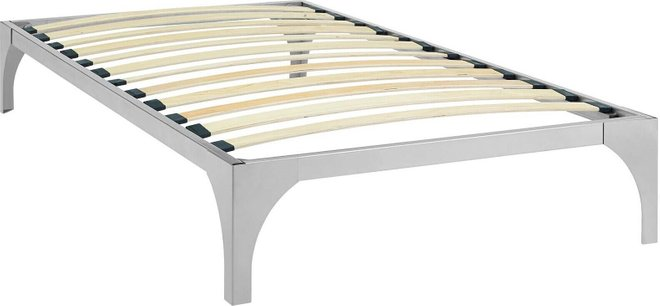 Ollie Twin Bed Frame Silver
