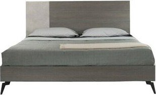 Nova Domus Palermo Queen Bed Faux Concrete & Gray