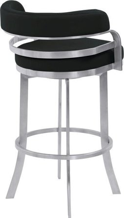 Harvey Counter Height Metal Swivel Barstool Black