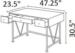 Guthrie Industrial Driftwood Writing Desk Gray