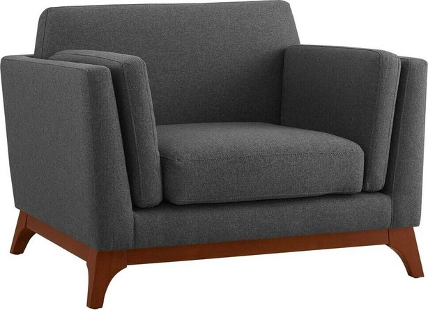 Chance Upholstered Fabric Armchair Gray