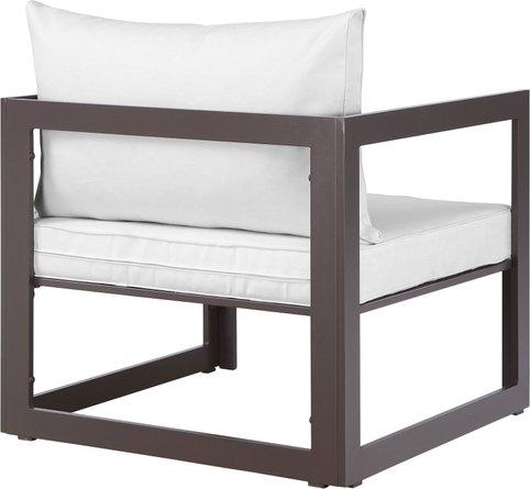 Fortuna Outdoor Patio Chairs Brown & White
