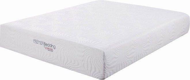 """Ian Memory Foam Eastern King Mattress 12"""" White"""