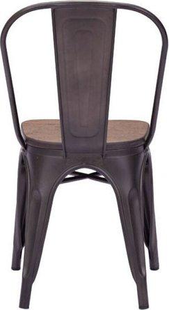 Elio Chair Rusty+Elm Wood Top (Set of 2)