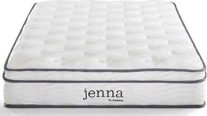 "Jenna 8"" Twin Innerspring Mattress White"