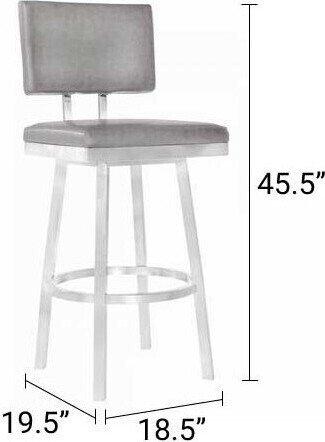 "Tanya 30"" Counter Height Barstool Vintage Gray"