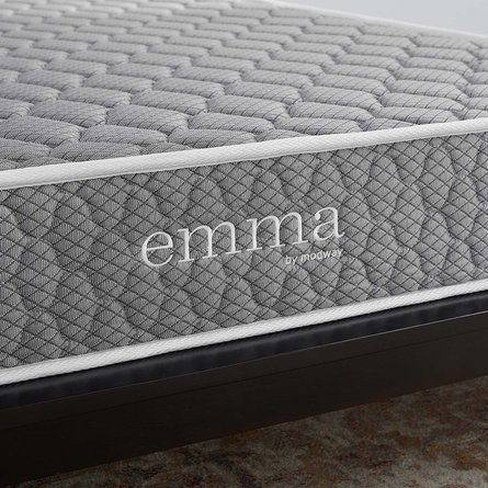 "Emma 8"" King Mattress Gray"